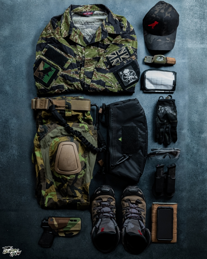 Layout of the geardo crow's 1st line kit for Op Atar