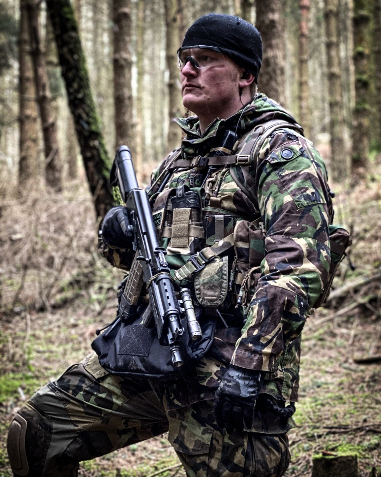 the geardo crow at stirling airsoft the trees