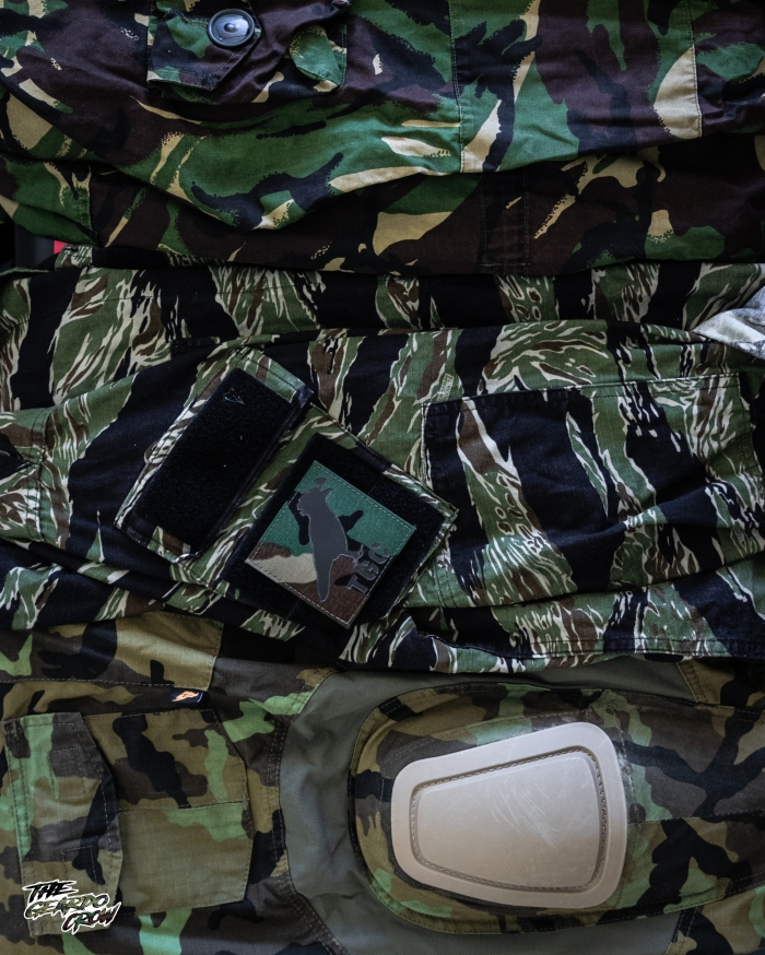 dpm smock, tigerstripe shirt and vz95 trousers