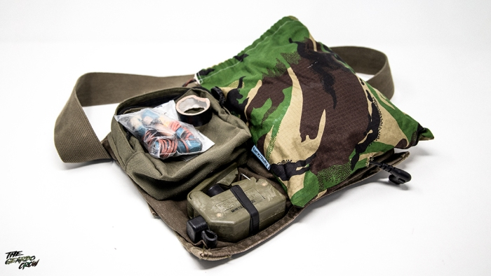 The Geardo crow's remote det kit laid out on a claymore bag