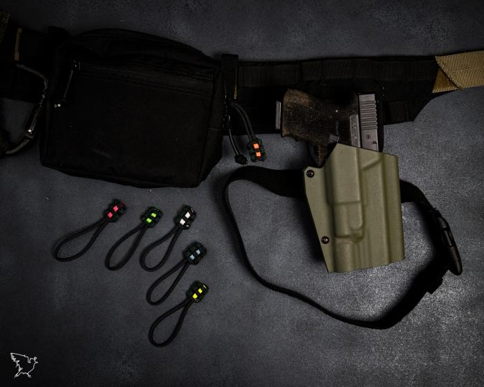 Lamp and sandbag paracord colour code kit